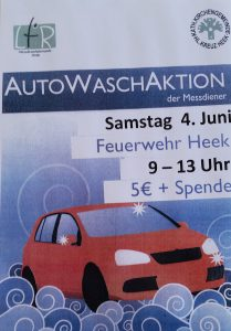 Autowaschaktion